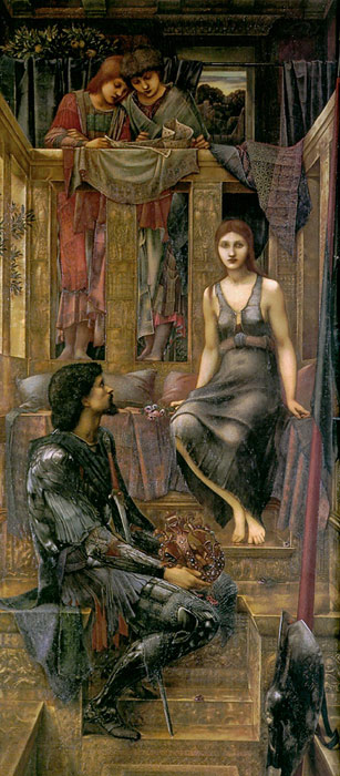 Oil Painting Reproduction of Burne-Jones- King Cophetua and the Beggar Maid