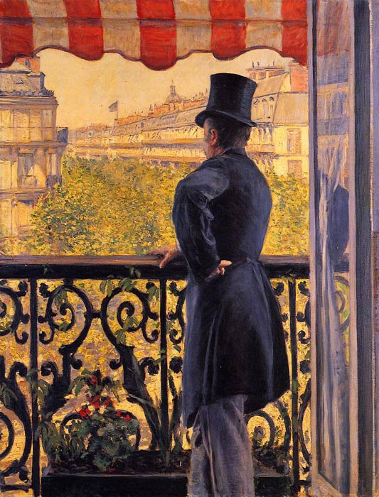 Oil Painting Reproduction of Caillebotte - The Man on the Balcony