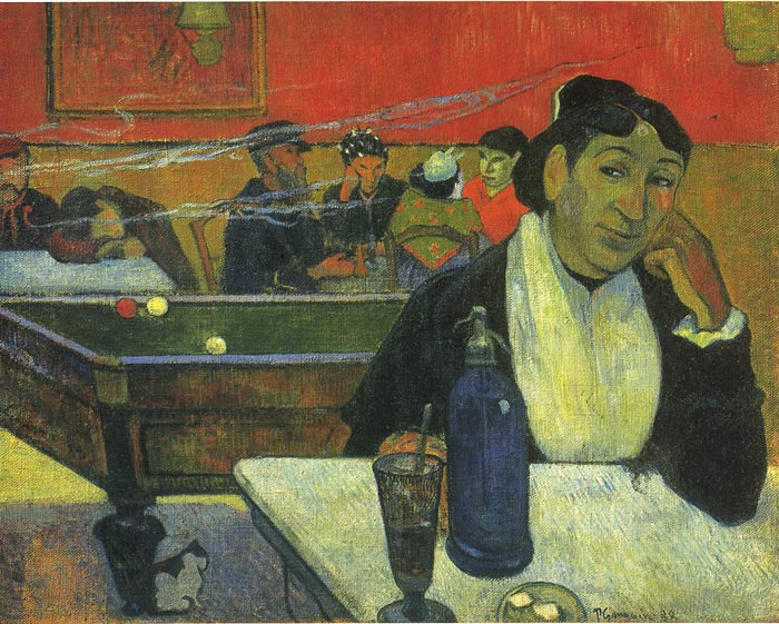 Oil Painting Reproduction of Gauguin- Night Cafe at Arles