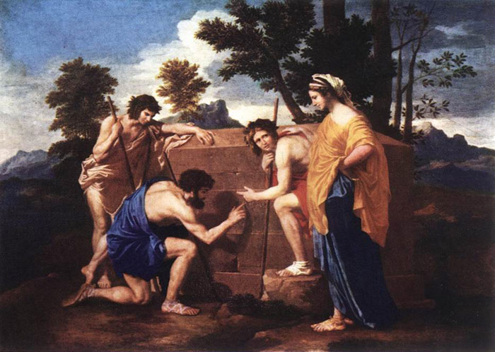 Oil Painting Reproduction of Poussin- Et in Arcadia ego