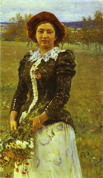 Oil Painting Reproduction of Repin- Portrait of V.I.Repin