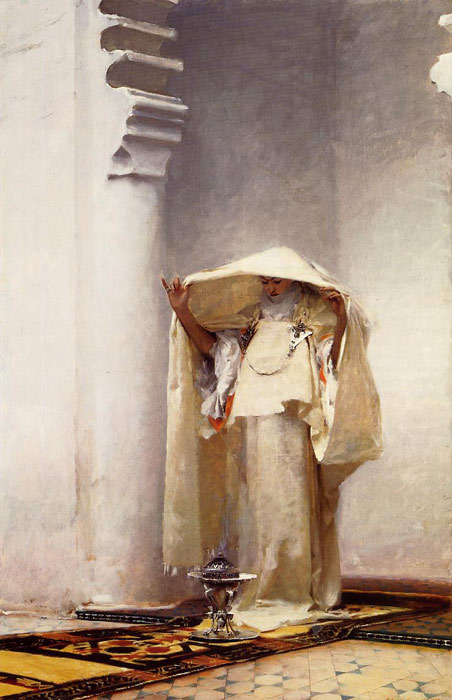 Oil Painting Reproduction of Sargent- Fumee dAmbre gris