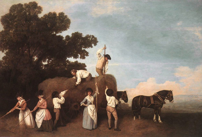 Oil Painting Reproduction of Stubbs- The Haymakers