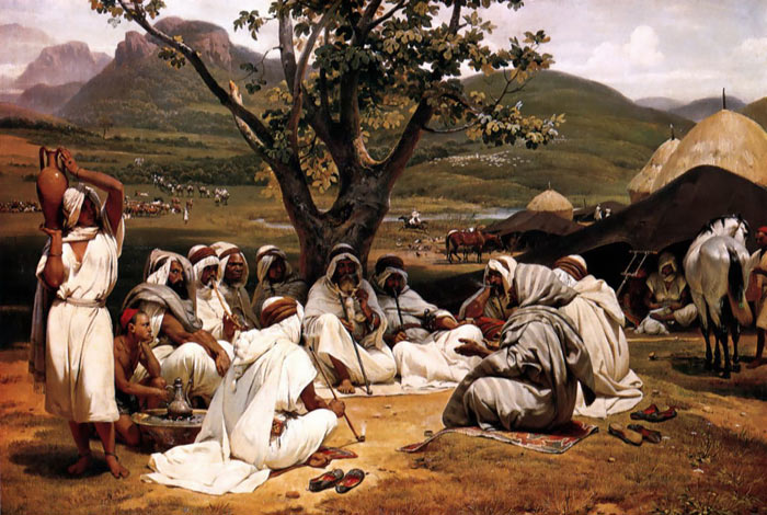 Oil Painting Reproduction of Vernet- The Arab Tale-teller