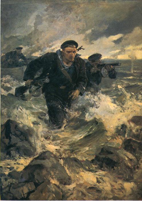Serov Oil Painting Reproductions- Baltic Landing