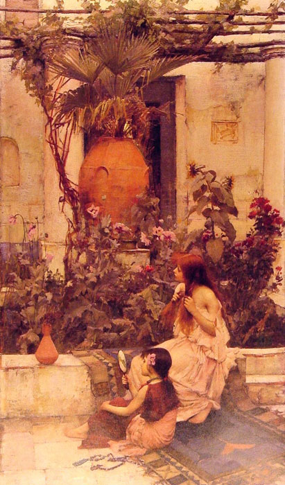 Waterhouse Oil Painting Reproductions - At Capri