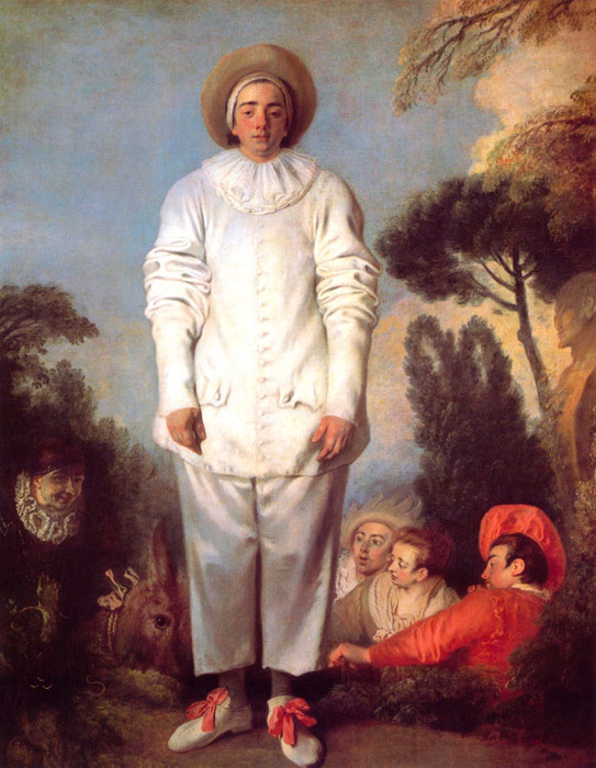 Watteau Oil Painting Reproductions- Pierrot