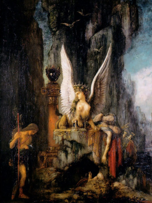 Oil Painting Reproduction of Moreau- Oedipus the Wayfarer