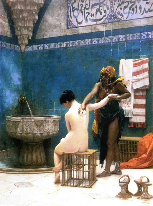 Oil Painting Reproduction of Gerome- Moorish Bath