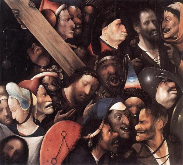 Oil Painting Reproduction of Bosch- Christ Carrying the Cross