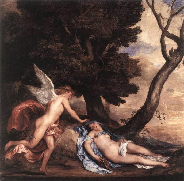 Antony van Dyck Oil Painting Reproductions - Cupid and Psyche