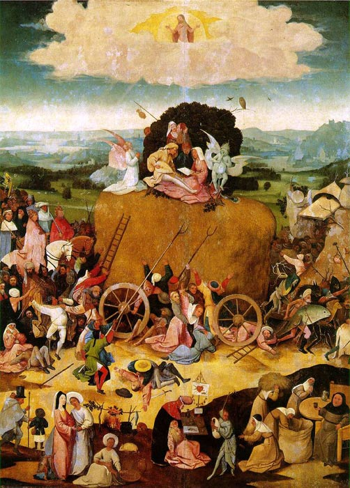 Oil Painting Reproduction of Bosch- Haywain