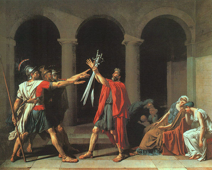 David Oil Painting Reproductions- The Oath of the Horatii