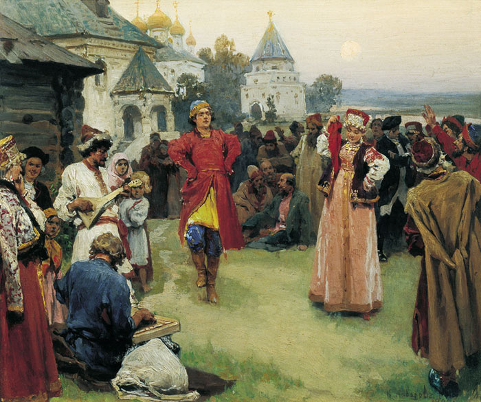Oil Painting Reproduction of Lebedev - Popular Dance