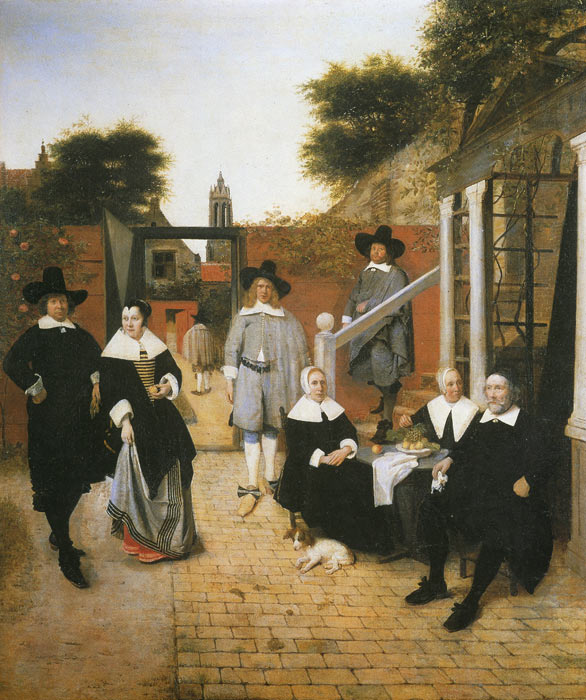 Hooch Oil Painting Reproductions - Dutch Family