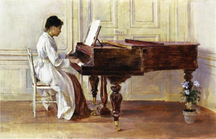 Oil Painting Reproduction of Robinson- At the Piano