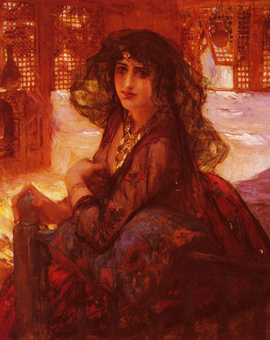 Bridgeman Oil Painting Reproductions- Harem Girl