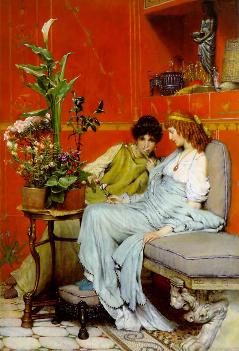 Alma-Tadema Oil Painting Reproductions - Confidences