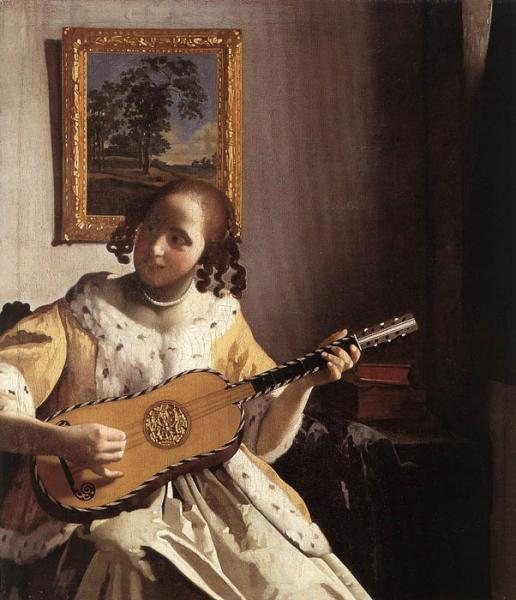 Vermeer Oil Painting Reproductions- The Guitar Player
