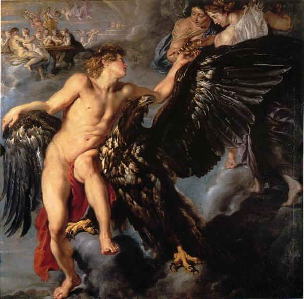 Oil Painting Reproduction of Rubens- Ganymede et L Aigle