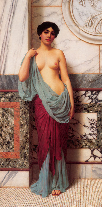 Godward Oil Painting Reproductions- At the Thermae