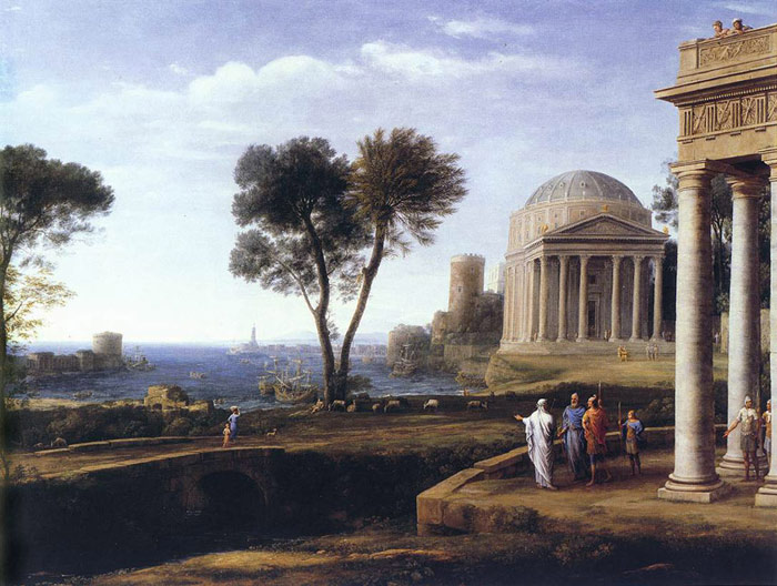 Oil Painting Reproduction of Lorrain- Landscape with Aeneas at Delos