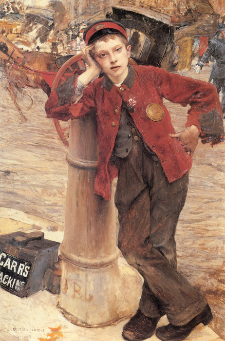 Oil Painting Reproduction of Bastien- Lepage - The London Bootblack