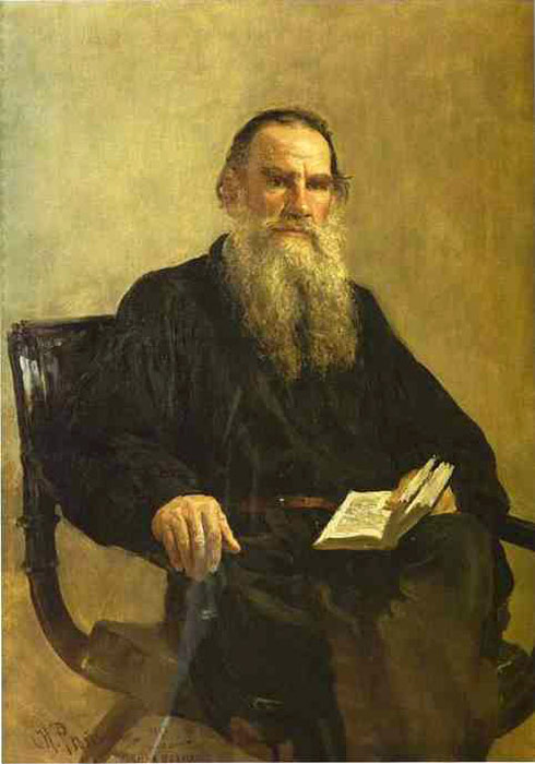 Repin Oil Painting Reproductions- Tolstoy
