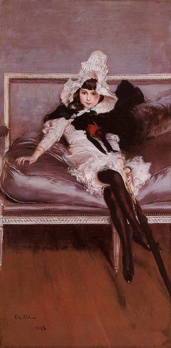Boldini Oil Painting Reproductions- Portrait of Giovinetta Errazuriz