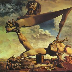 Dali Oil Painting Reproductions - Premonition of Civil War
