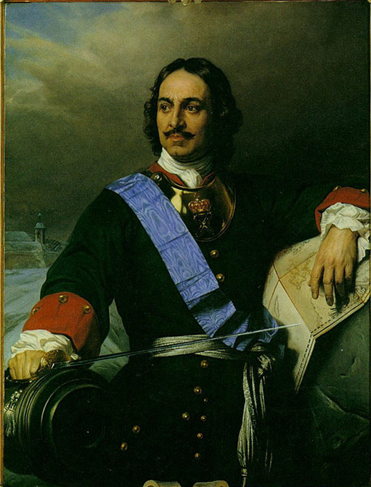 Delaroche Oil Painting Reproductions-Peter the Great of Russia