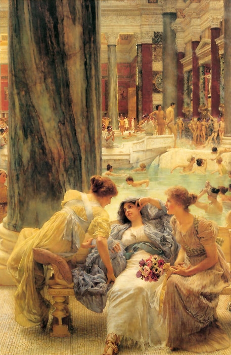 Oil Painting Reproduction of Alma-Tadema - The Baths of Caracalla