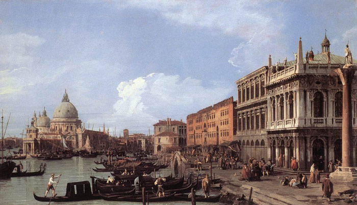 Oil Painting Reproduction of Canaletto - The Molo: Looking West