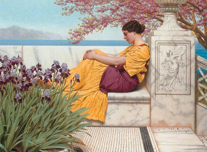 Oil Painting Reproduction of Godward- Under the Blossom