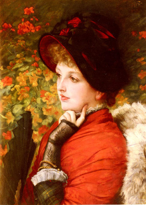 Oil Painting Reproduction of Tissot- Type Of Beauty