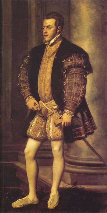 Oil Painting Reproduction of Titian- Portrait of Philip II