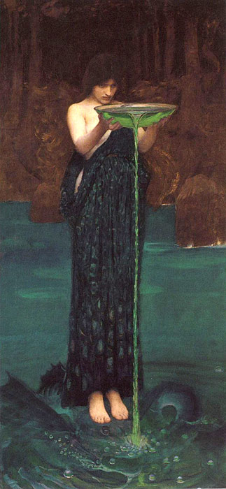 Oil Painting Reproduction of Waterhouse- Circe Invidiosa