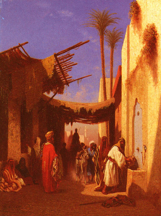 Street In Damascus and Street In Cairo-Oil Painting Reproduction of Frere
