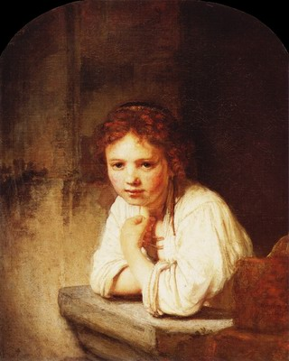 A girl at a window