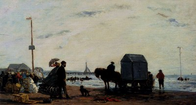 Beach Scene,Trouville