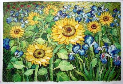 oil painting chinese oil painting Van Gogh oil painting