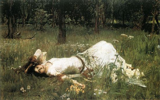 Ophelia-1889, John William Waterhouse