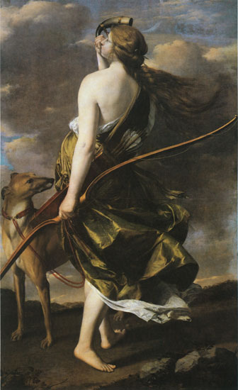 Diana the Huntress, Orazio Gentileschi