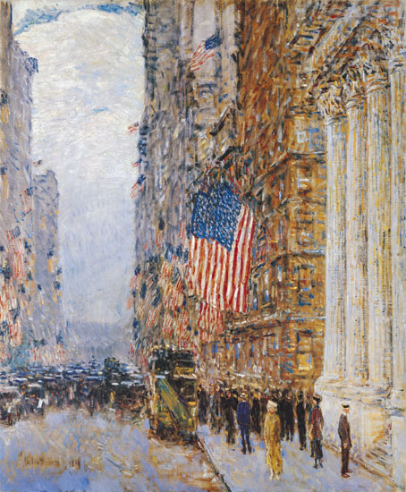 Flags on the Waldorf, Childe Hassam