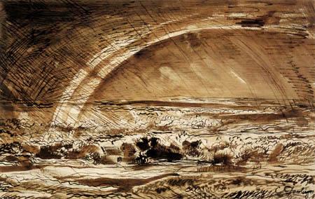 Thunderstorm landscape