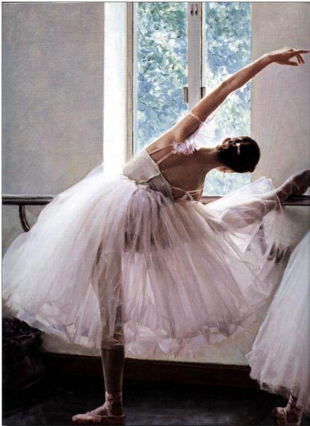 Ballet oil painting