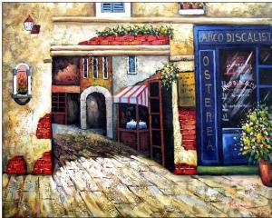 Storefront oil painting