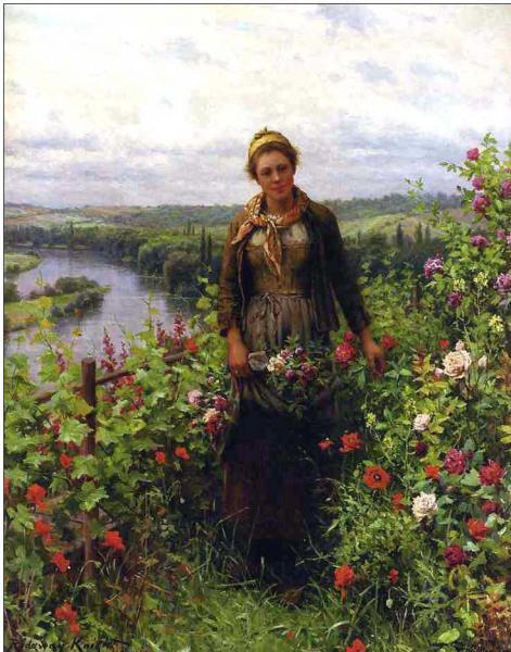 Farming oil painting