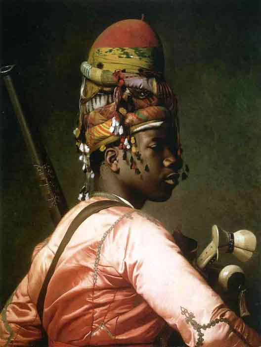 Oil painting for sale:Black Bashi-Bazouk, 1869