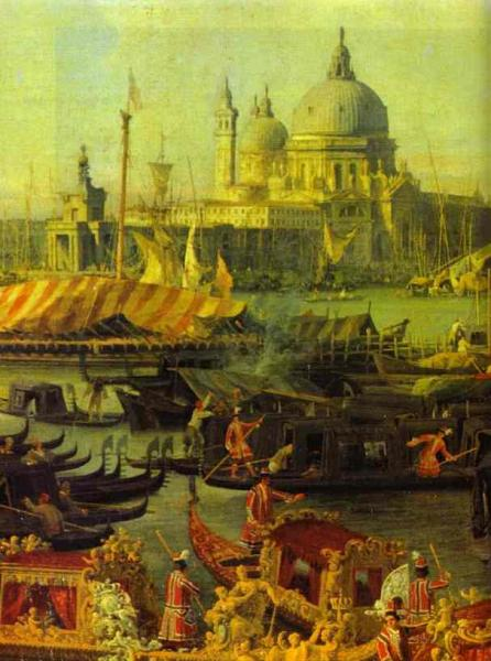 Oil painting:The Reception of the French Ambassador in Venice. Detail. 1740